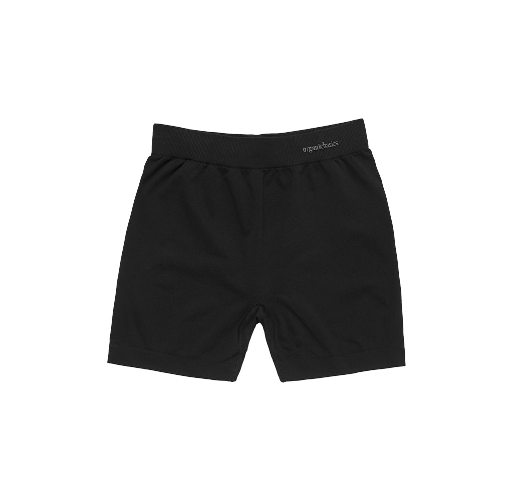 Organic Basics SIlvertech Yoga Shorts: Black - The Union Project