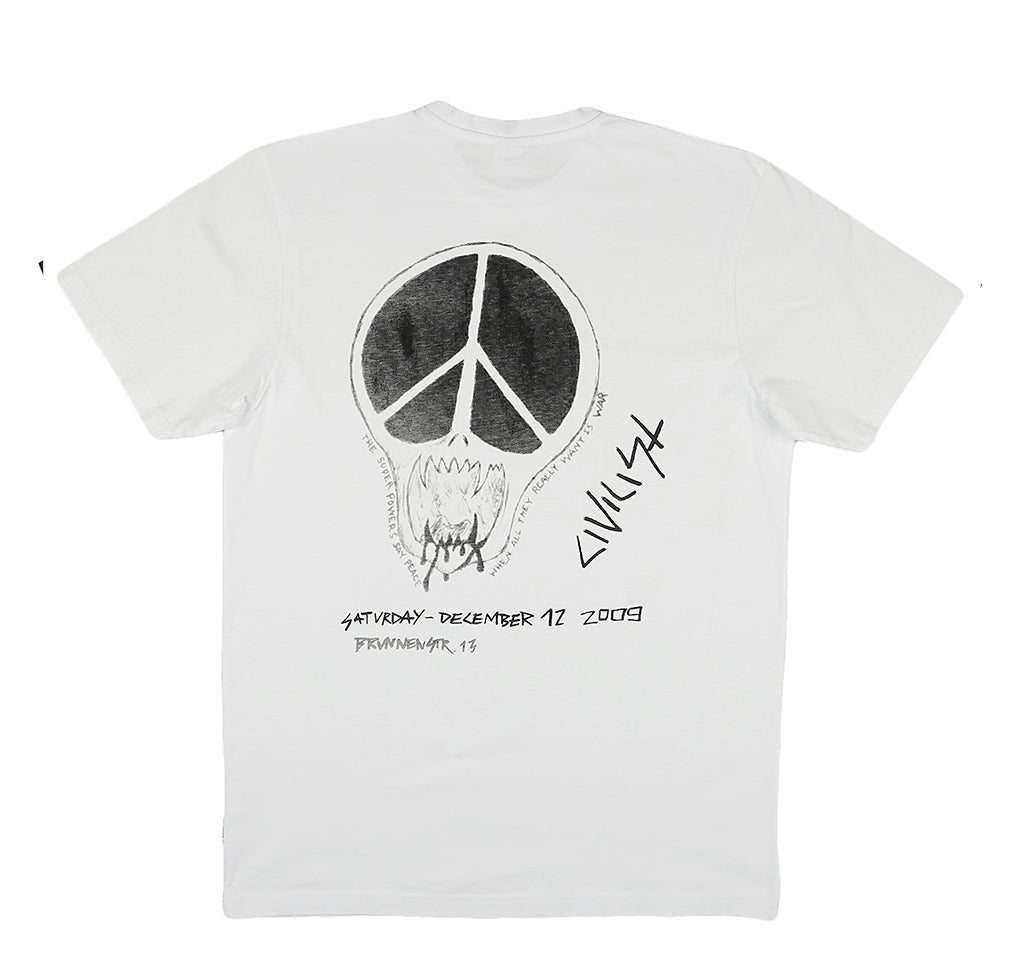 Civilist Peace Skull Tee: White - The Union Project