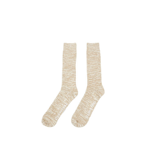 Socks Universal Works Slub Knit Socks: Dark Sand - The Union Project, Cheltenham, free delivery