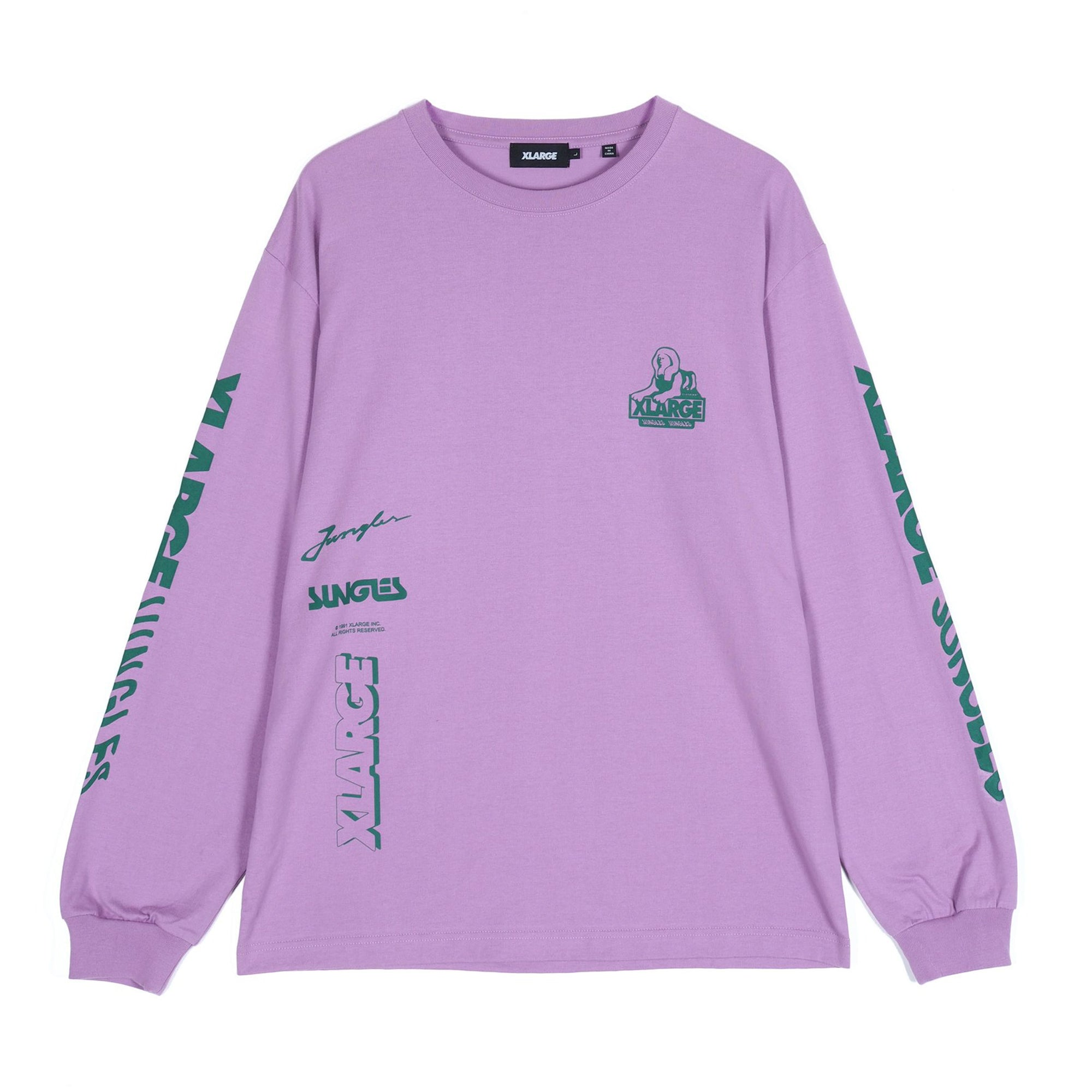 Jungles Jungles Long Sleeve OG Sphinx Logo: Purple - The Union Project