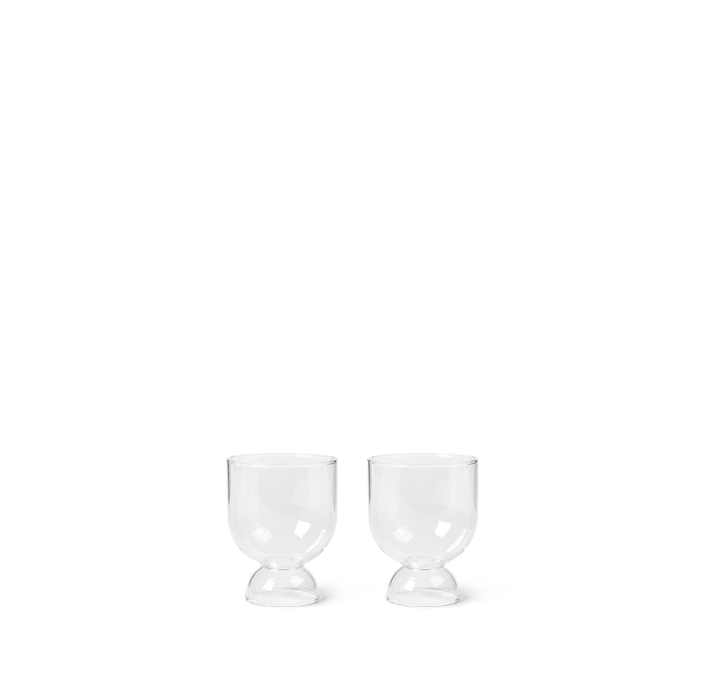 Ferm Living Still Glasses Set of 2: Clear - The Union Project