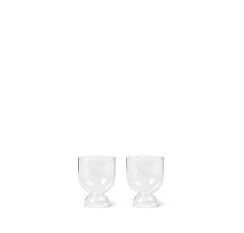 Ferm Living Still Glasses Set of 2: Clear