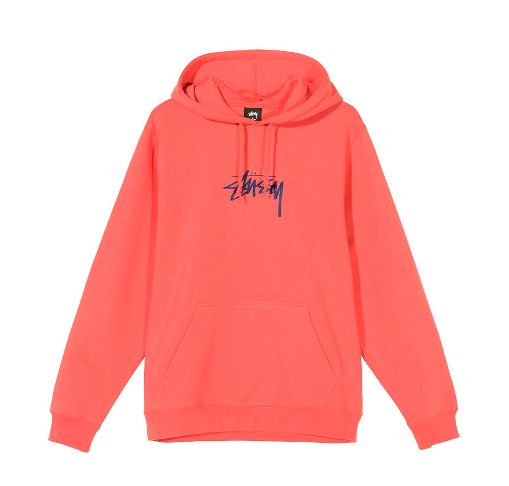 Hoods & Sweats Stussy Stock Logo App. Hoodie: Pale Red - The Union Project, Cheltenham, free delivery