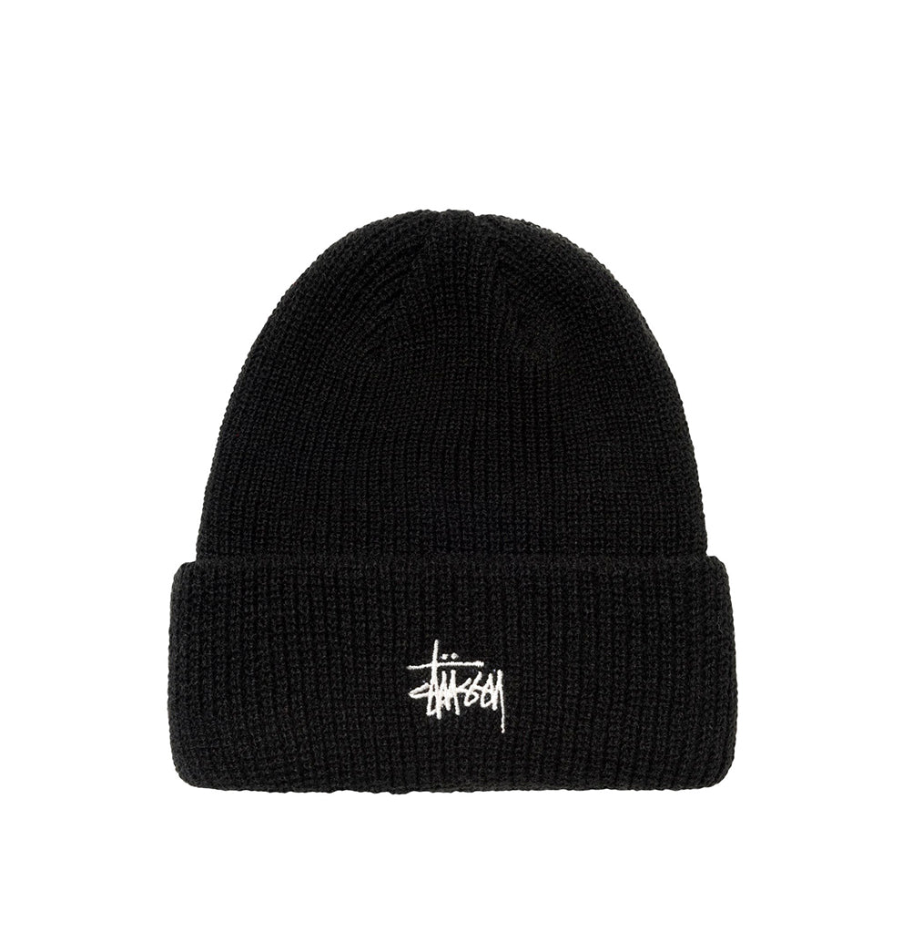 Headwear Stussy Basic Cuff Beanie: Black - The Union Project, Cheltenham, free delivery