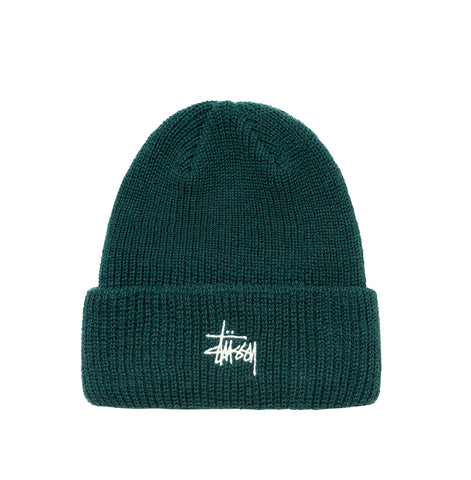 Headwear Stussy Basic Cuff Beanie: Pine - The Union Project, Cheltenham, free delivery
