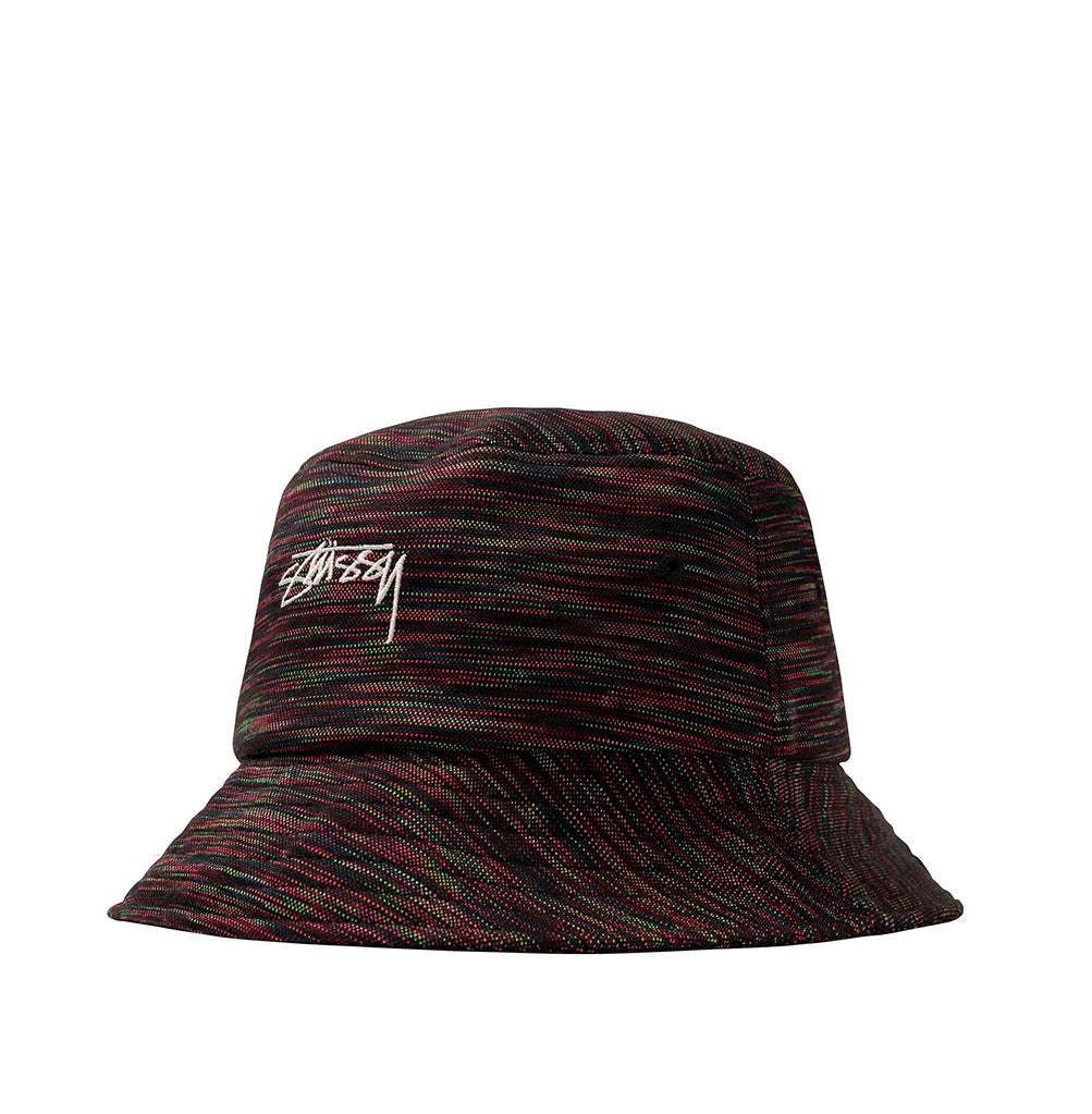 Stussy Multi Colour Knit Bucket Hat: Black - The Union Project