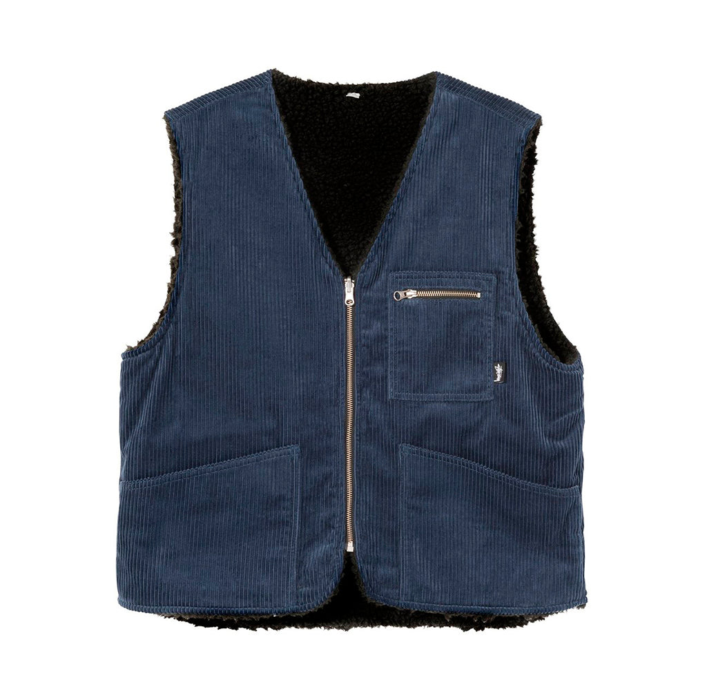 Stussy Wide Wale Reversible Vest: Navy - The Union Project