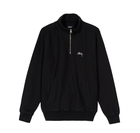 Hoods & Sweats Stussy Logo Mock: Black - The Union Project, Cheltenham, free delivery