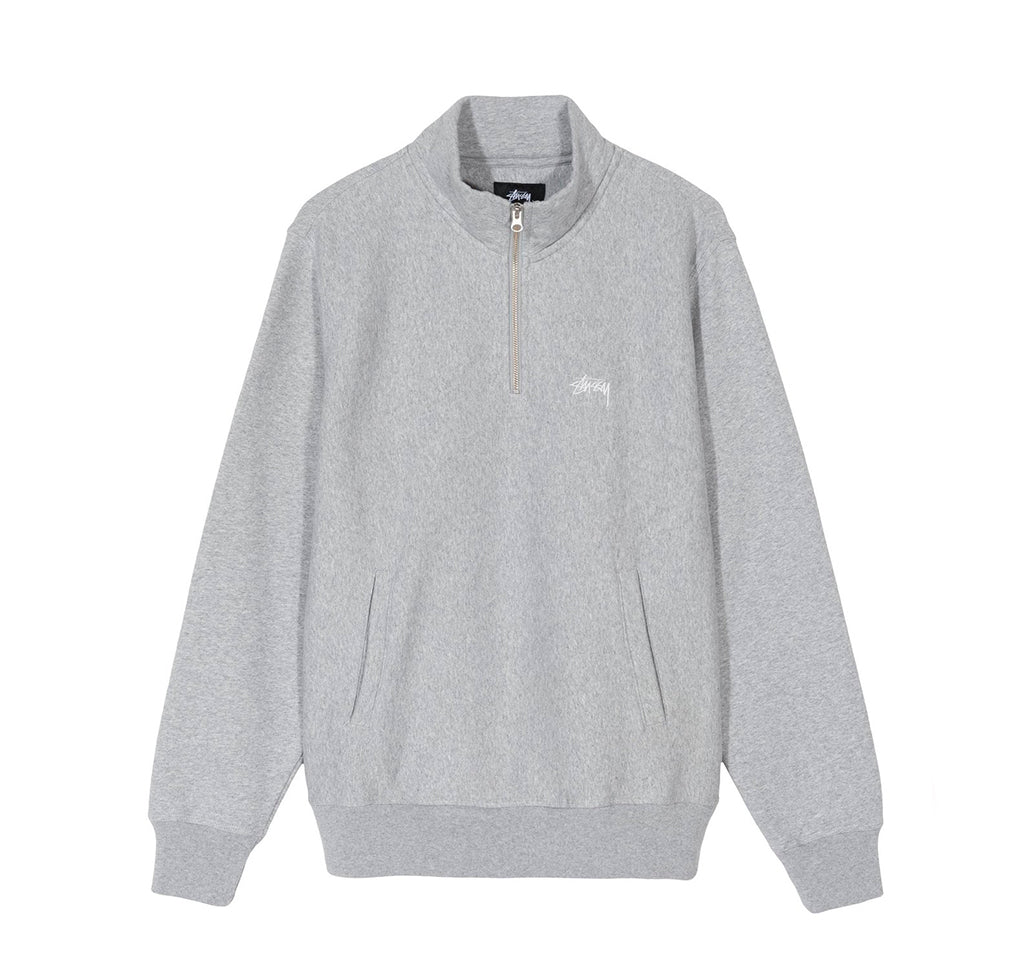 Hoods & Sweats Stussy Logo Mock: Grey Heather - The Union Project, Cheltenham, free delivery