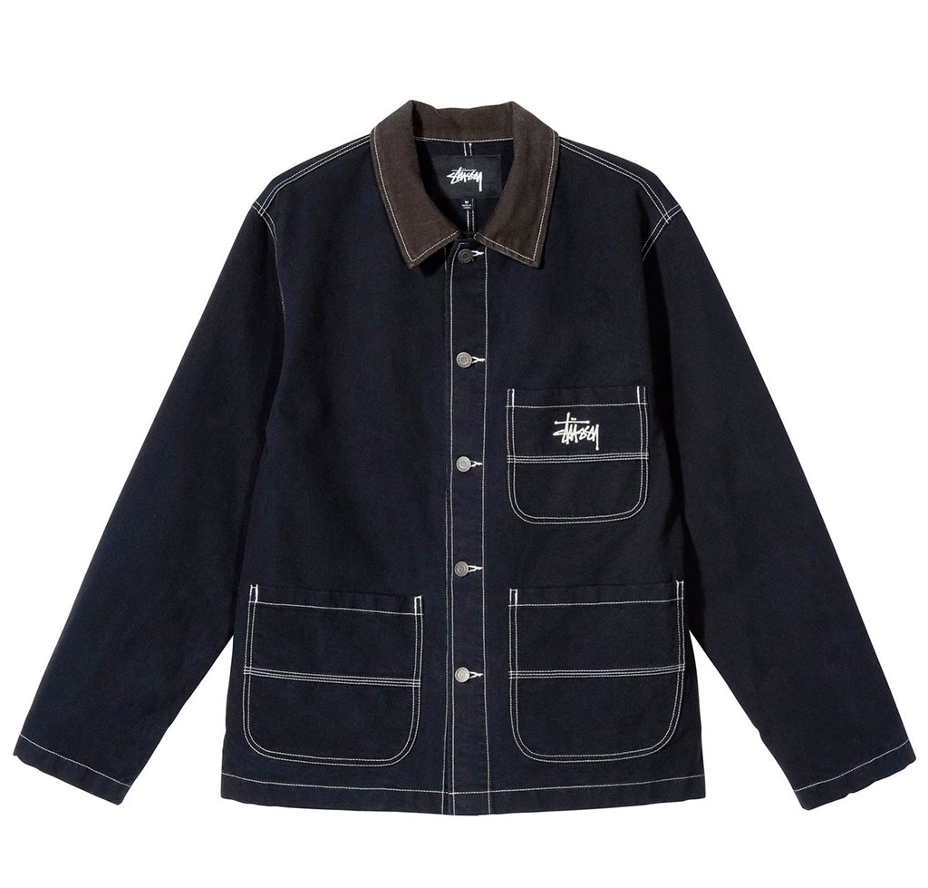 Outerwear Stussy Brushed Moleskin Chore Jacket: Navy - The Union Project, Cheltenham, free delivery