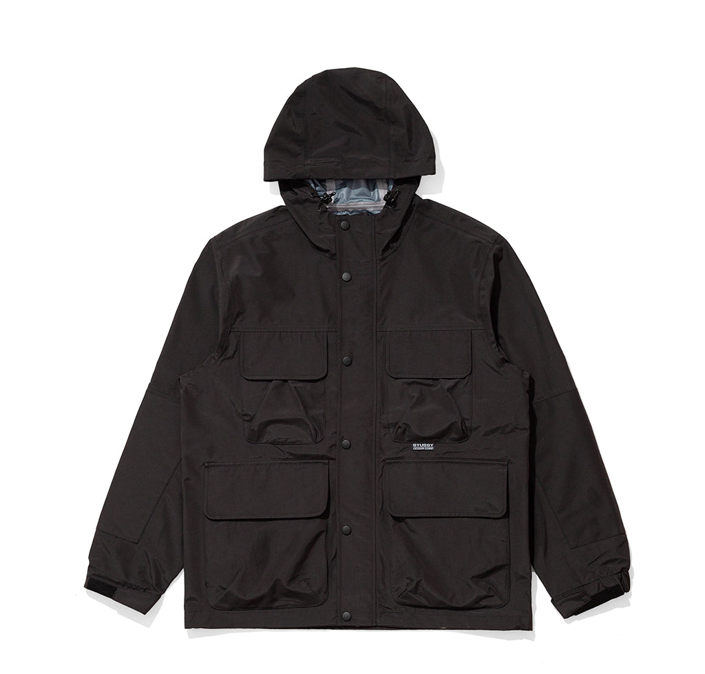 Coats Stussy Taped Seam Field Jacket: Black - The Union Project, Cheltenham, free delivery