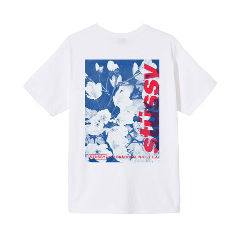 T-Shirts Stussy Windflower Tee: White - The Union Project, Cheltenham, free delivery