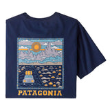 T-Shirts Patagonia Summit Road Organic T-Shirt: Classic Navy - The Union Project, Cheltenham, free delivery