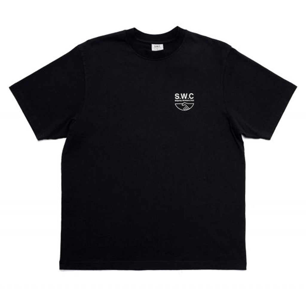 Stepney Workers Club Handshake Tee: Black - The Union Project