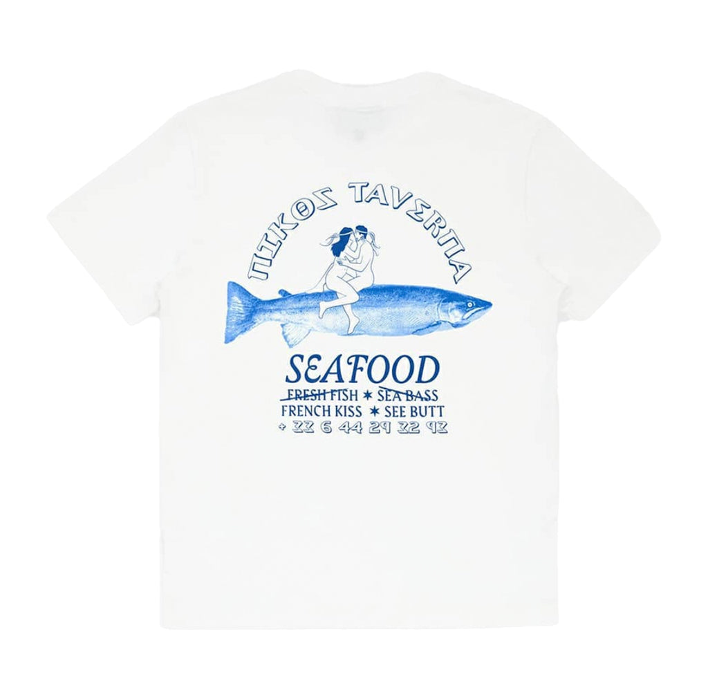 T-Shirts Carne Bollente Fresh Fish French Kiss T-Shirt: White - The Union Project, Cheltenham, free delivery