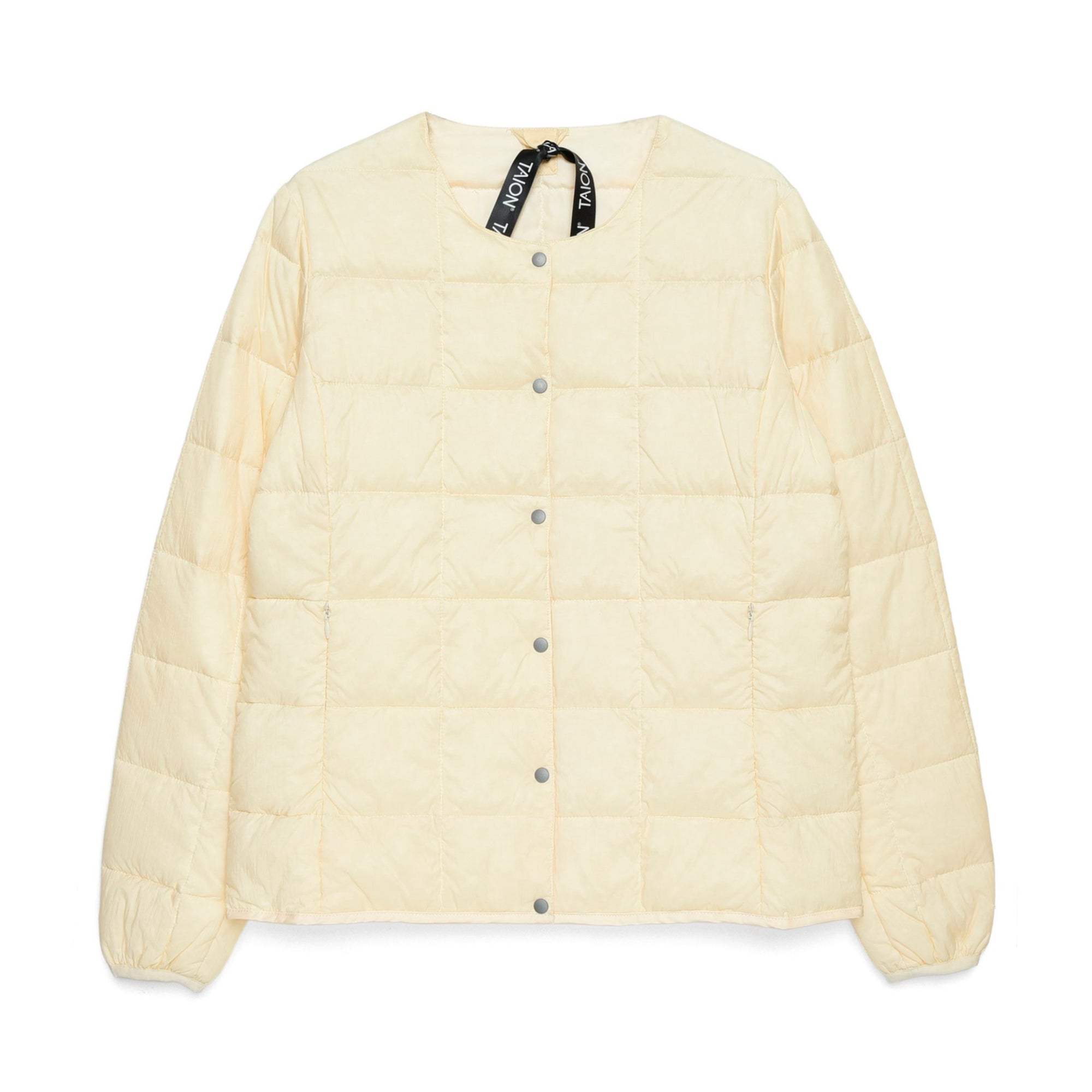Taion Womens Crew Neck Button Down Jacket: Off White - The Union Project
