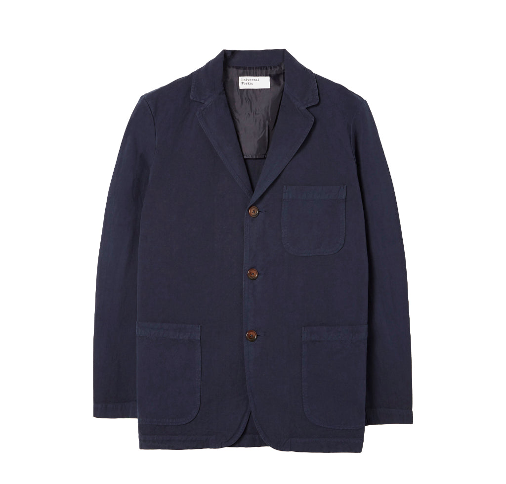 Outerwear Universal Works Three Button Jacket: Navy - The Union Project, Cheltenham, free delivery