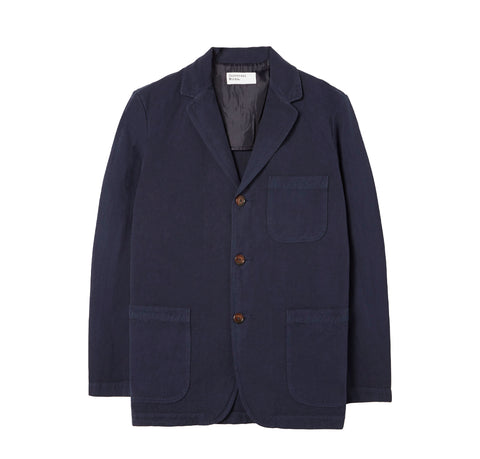Universal Works Three Button Jacket: Navy