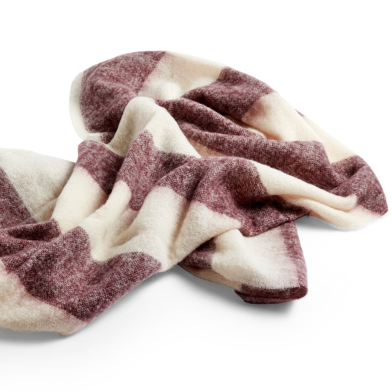 HAY Mohair Blanket: Burgundy - The Union Project