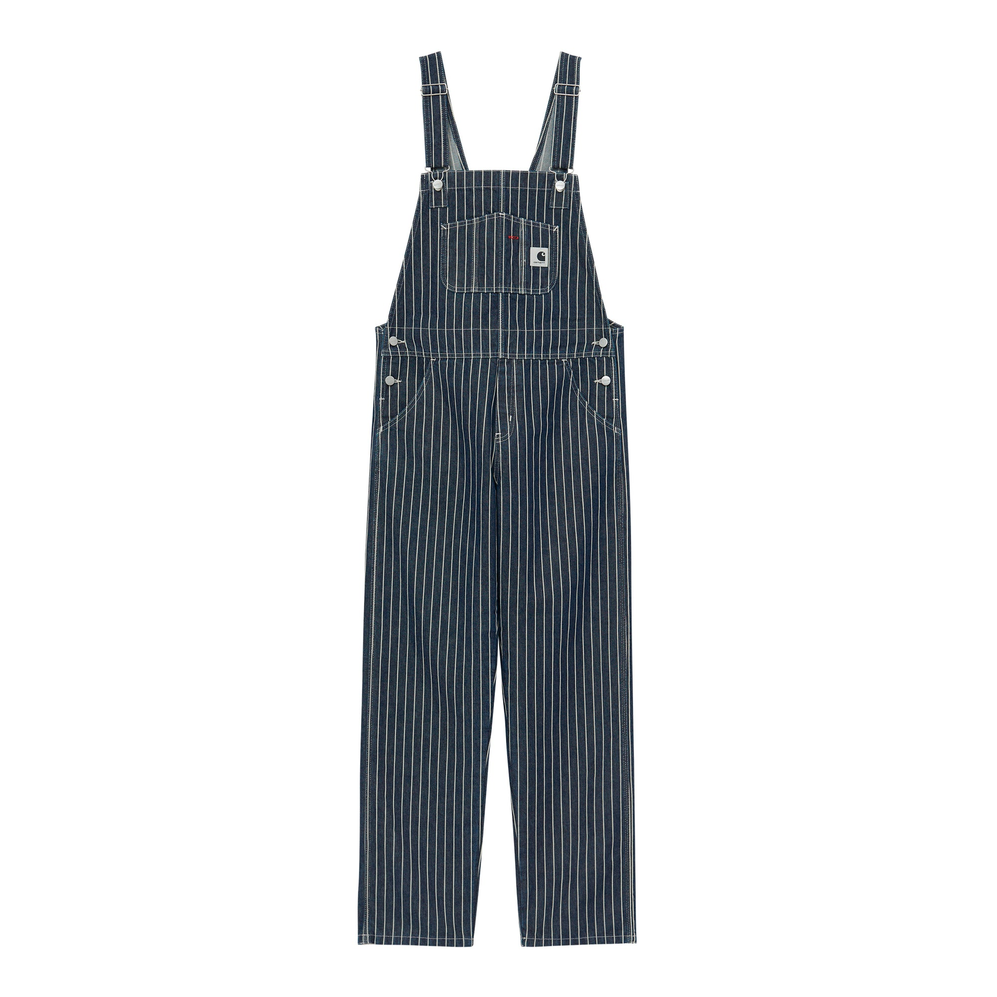 Carhartt WIP Womens Trade Overall: Hickory Stripe: Dark Navy / Wax - The Union Project