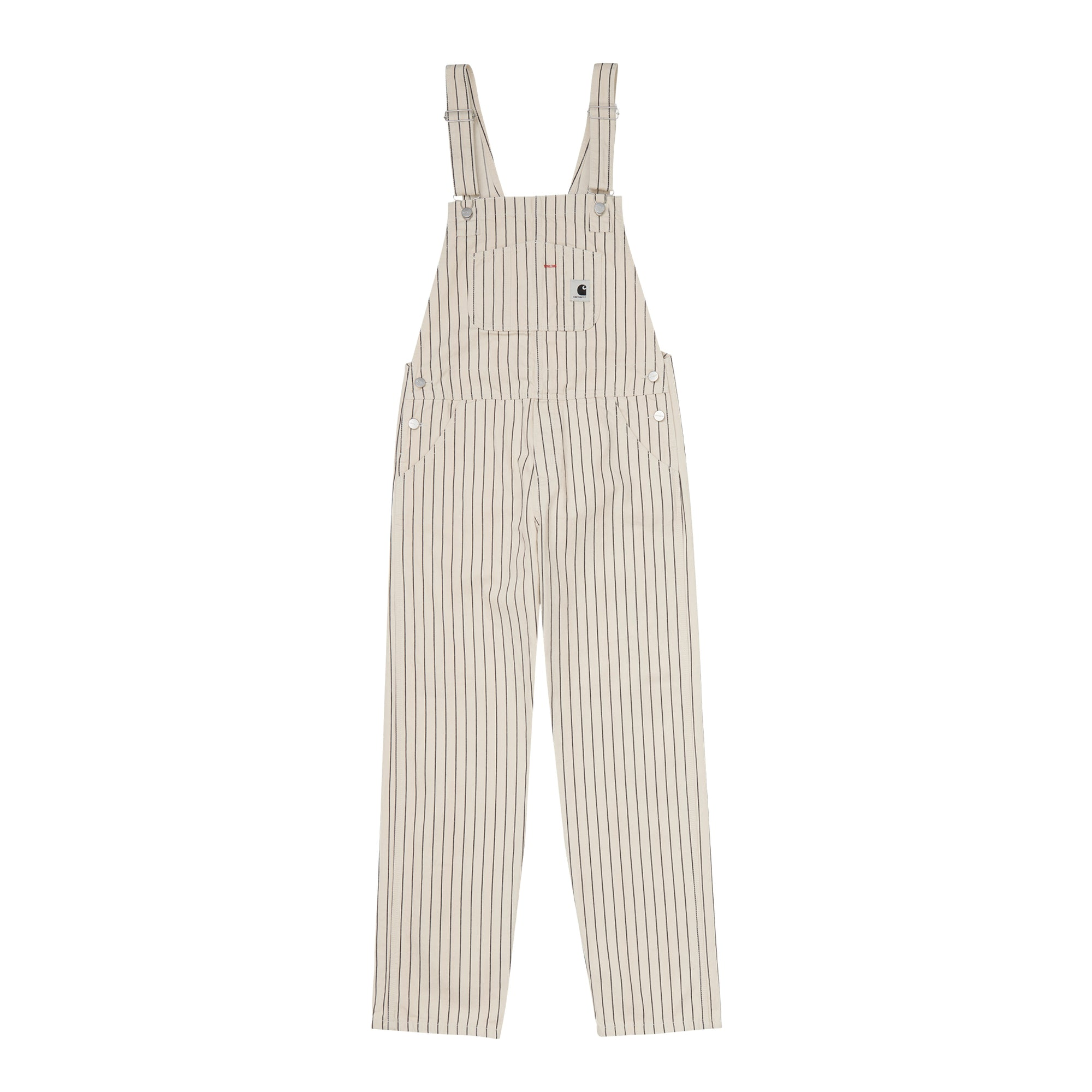 Carhartt WIP Womens Trade Overall: Hickory Stripe: Wax / Black - The Union Project