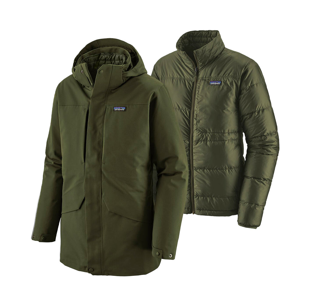 Outerwear Patagonia Tres 3-in-1 Parka: Kelp Forest - The Union Project, Cheltenham, free delivery