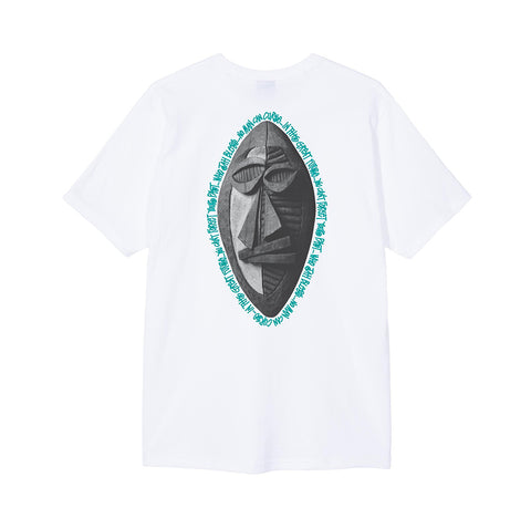 Stussy Tribal Mask Tee: White