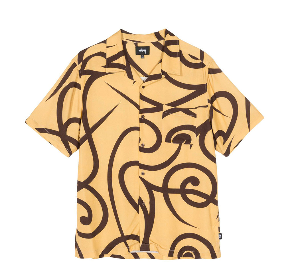 Stussy Tribal Pattern Shirt: Mustard - The Union Project