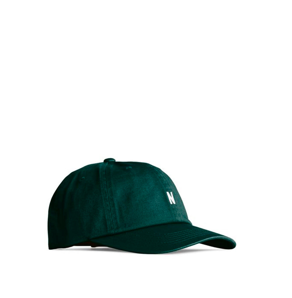 Norse Projects Twill Sports Cap: Deep Sea Green - The Union Project