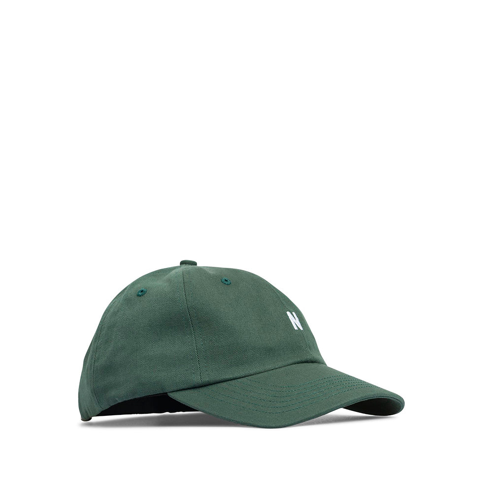 Norse Projects Twill Sports Cap: Dartmouth Green - The Union Project