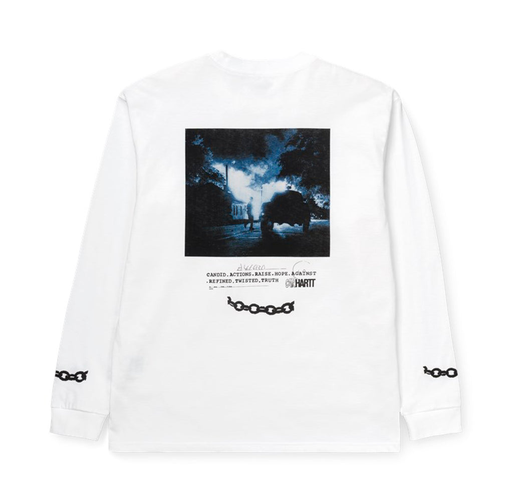 Carhartt WIP L/S Twisted Truth T-Shirt: White - The Union Project