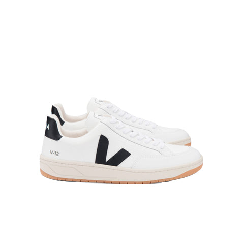 Footwear Veja V-12 B-Mesh: White / Black / White - The Union Project, Cheltenham, free delivery