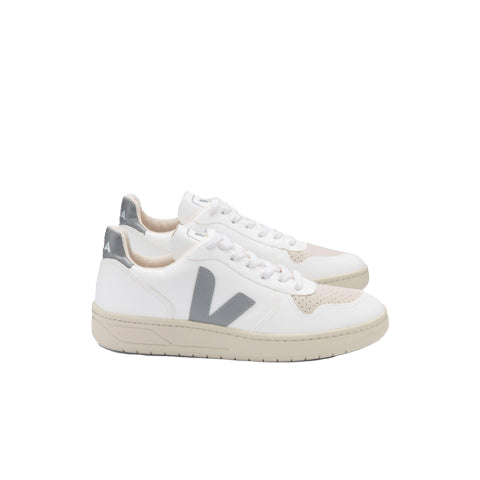 Veja V-10 CWL: White / Oxford Grey - The Union Project