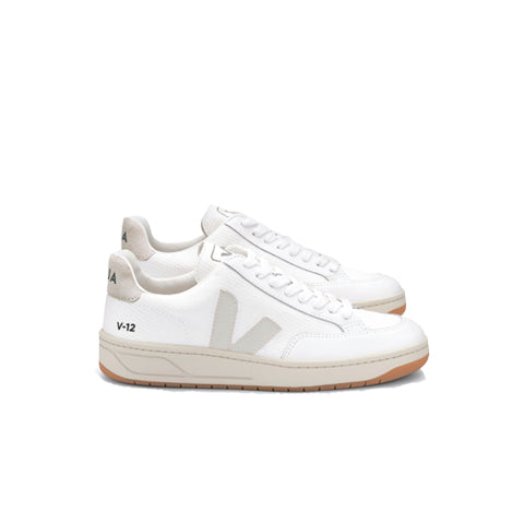 Veja V-12 B-Mesh: White/Natural - The Union Project
