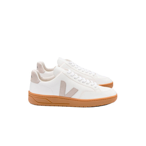 Veja V-12 Leather: Extra White / Natural / Gum Sole - The Union Project