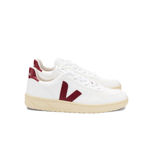 Footwear Veja V-10 CWL: White/Marsala Butter Sole - The Union Project, Cheltenham, free delivery