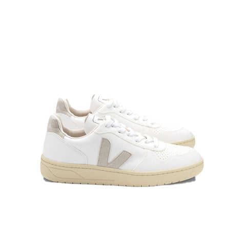 Veja V-10 CWL: White/Natural Butter Sole