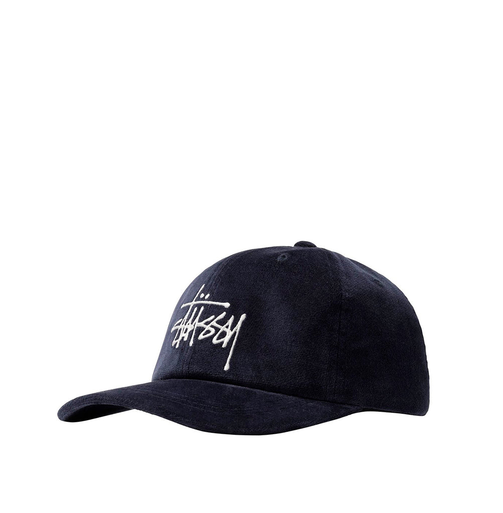 Stussy Big Logo Velveteen Low Pro Cap: Navy - The Union Project