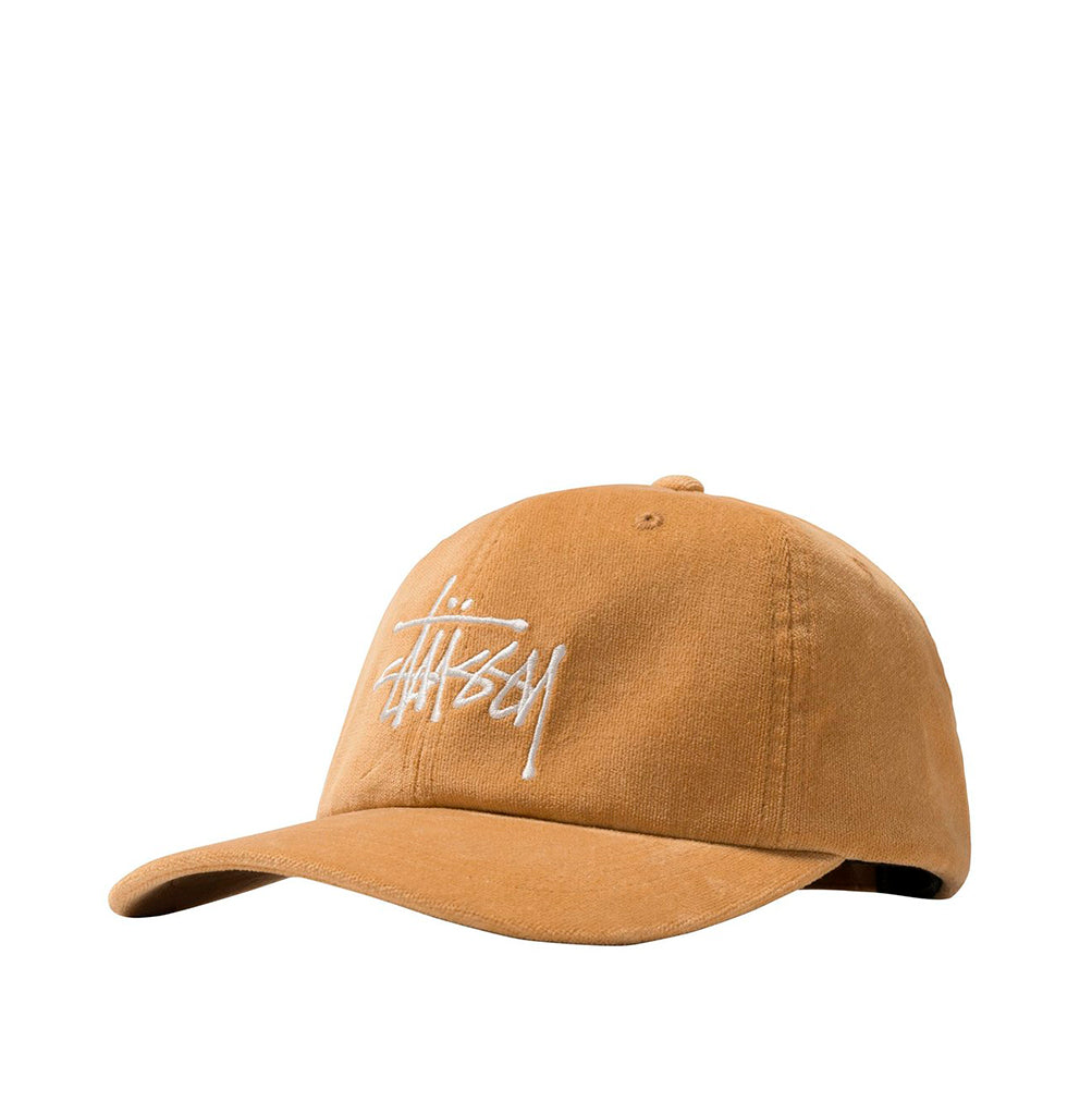 Stussy Big Logo Velveteen Low Pro Cap: Yellow - The Union Project