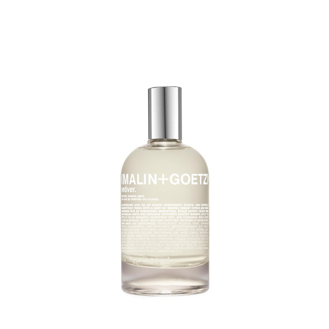 Eau de Parfum Malin + Goetz Vetiver Eau de Parfum: 100ml - The Union Project, Cheltenham, free delivery