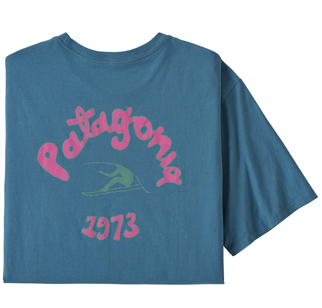 Patagonia Vision Mission Organic T-Shirt: Pigeon Blue - The Union Project