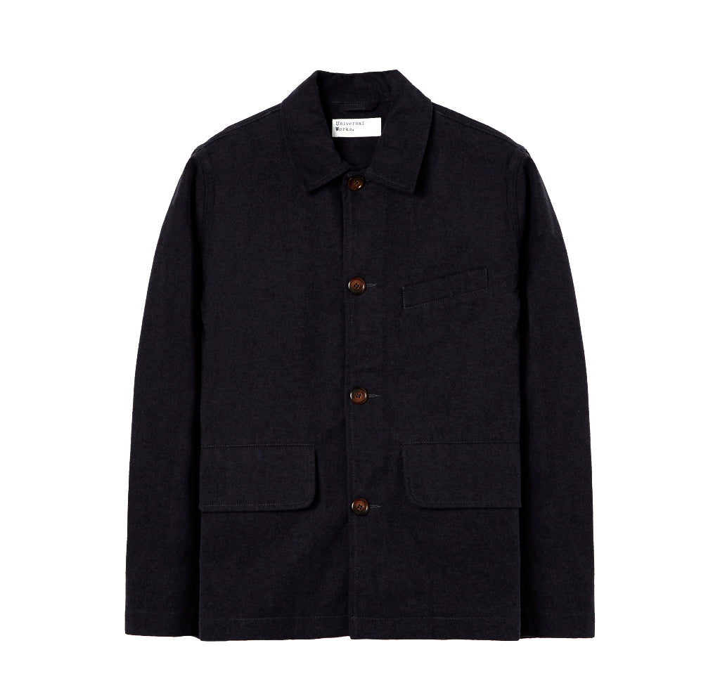 Jackets Universal Works Nebraska Cotton Warmus Jacket: Black - The Union Project, Cheltenham, free delivery