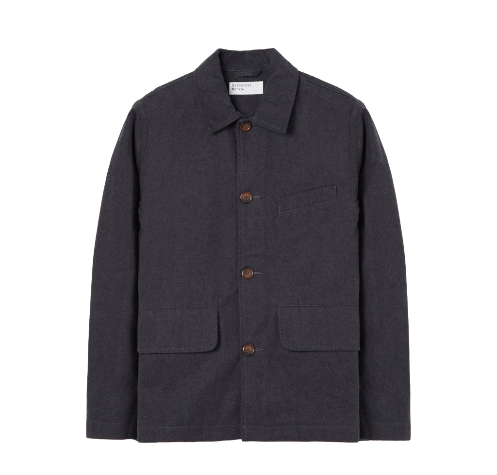 Jackets Universal Works Nebraska Cotton Warmus Jacket: Grey - The Union Project, Cheltenham, free delivery