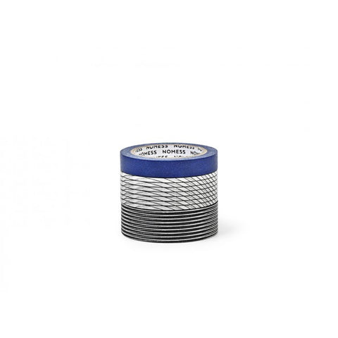 Nomess Washi Tape (3pcs): Grid/Blue