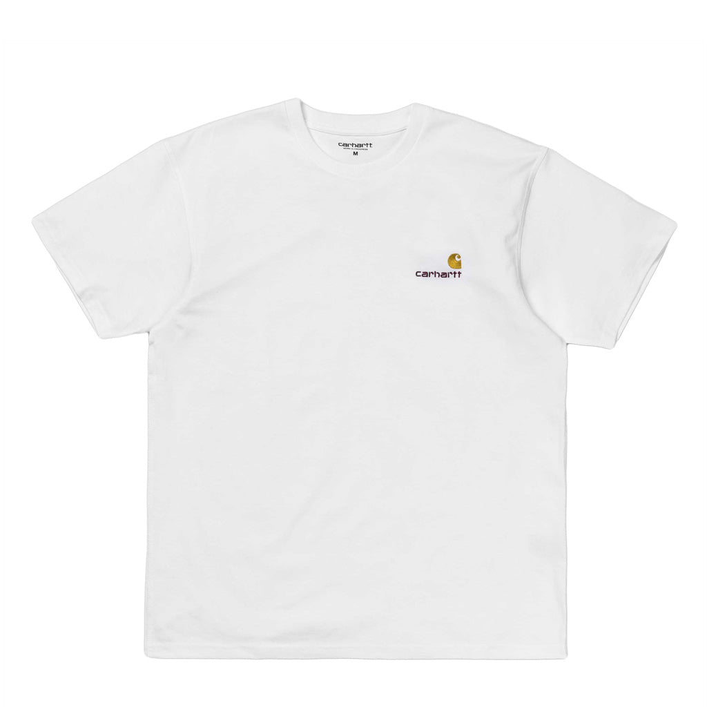 T-Shirts Carhartt WIP American Script T-Shirt: White - The Union Project, Cheltenham, free delivery