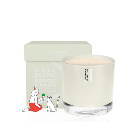 Home Fragrance + Candle Holders Compangnie de Provence Scented Candle 540g: White Musk - The Union Project, Cheltenham, free delivery
