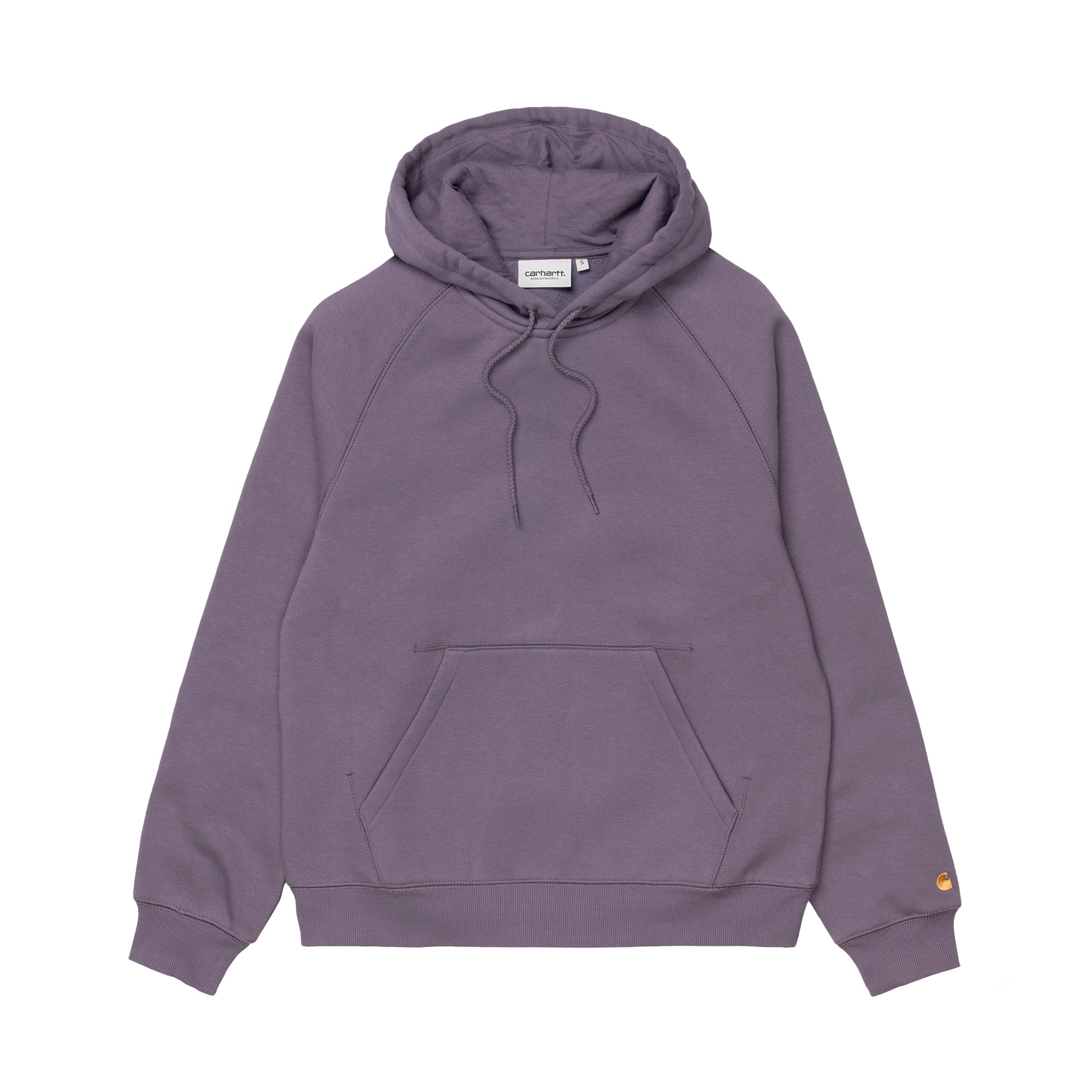 Carhartt WIP Womens Hooded Chase Sweat: Provence / Gold - The Union Project