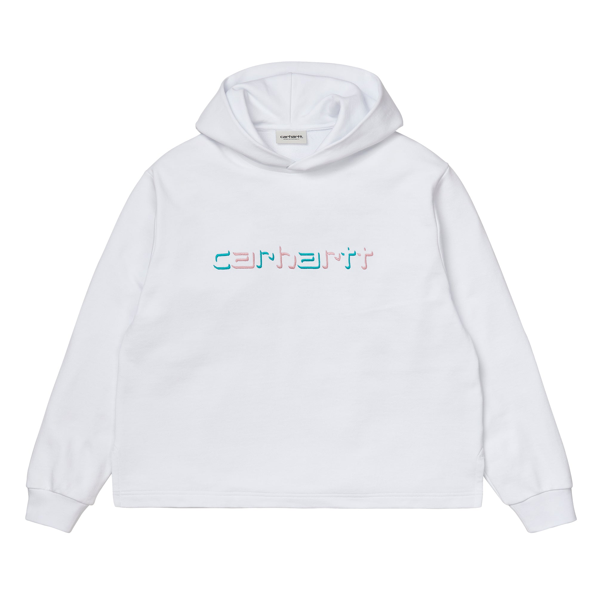 Carhartt WIP Womens Hooded Shadow Script Sweat: White - The Union Project