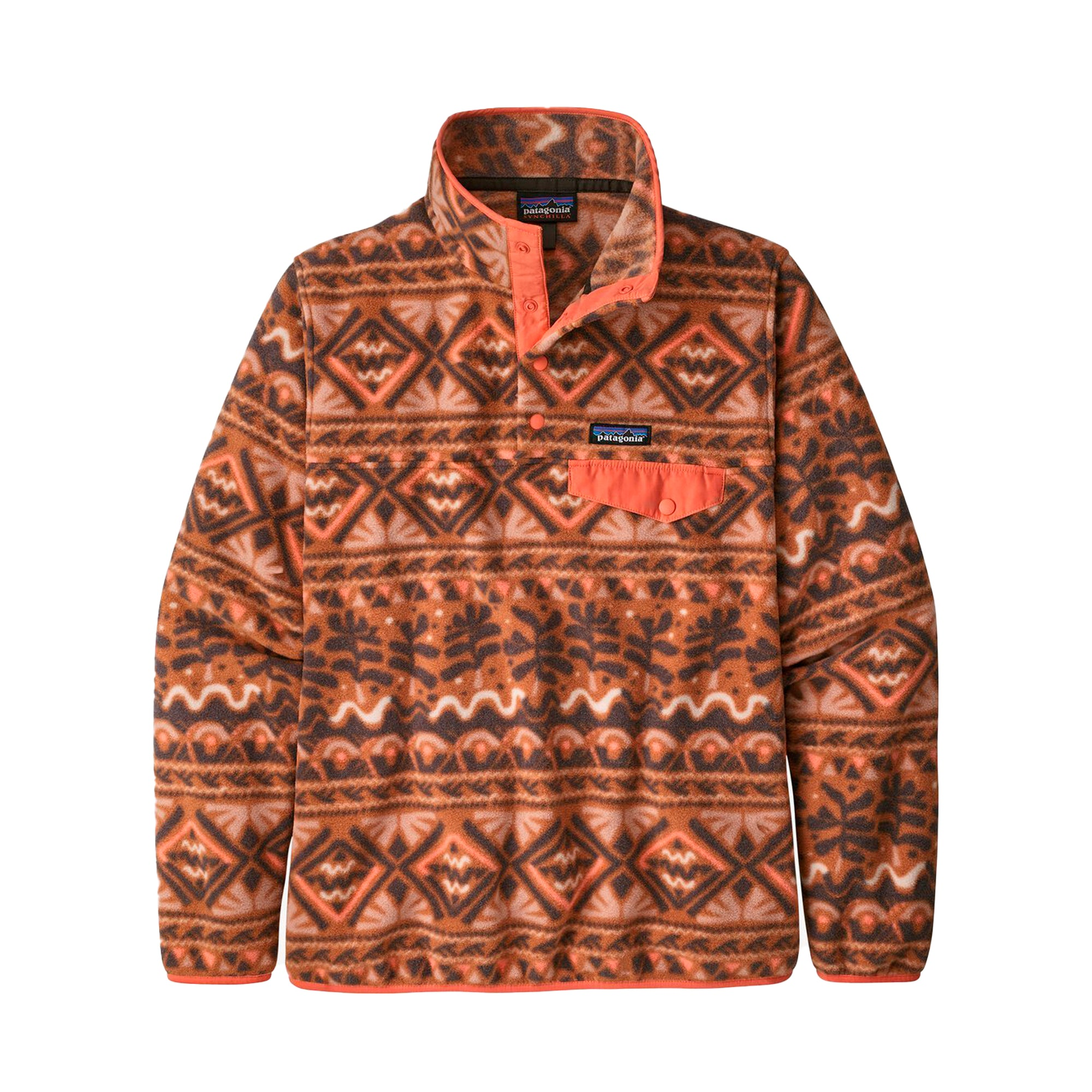 Patagonia Womens LW Synch Snap-T P/O: Mangrove: Henna Brown - The Union Project