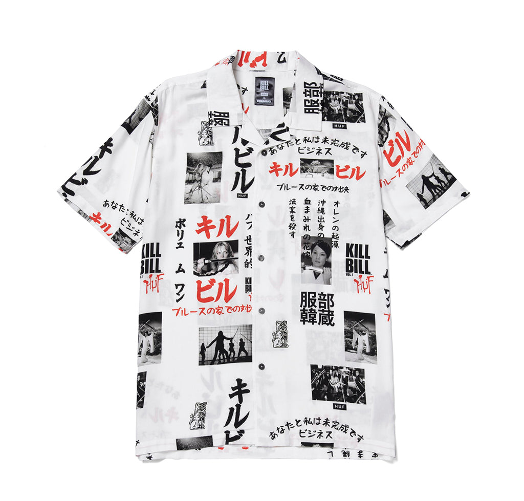 HUF x Kill Bill Short Sleeve Woven Top: White - The Union Project